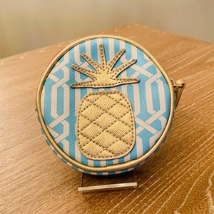 NWOT - Spartina - Pineapple Coin Purse w/Key Ring